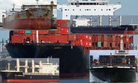 Suez Canal 5 ships mess with triple collision, collision and Canal block - Maritime Bullet